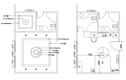 House sanitary plan and installation details with ceiling details dwg file