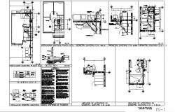 House sanitary section, water system and installation details dwg file