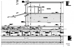 House section plan detail dwg file