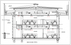House section view detail dwg file