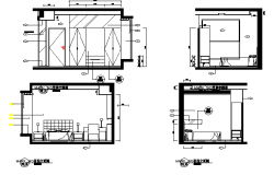 House sectional and furniture details