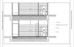 House toilet section and installation cad drawing details dwg file