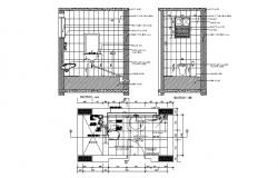 House toilet section and sanitary installation details dwg file