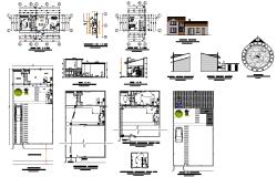 House type loft planning detail autocad file
