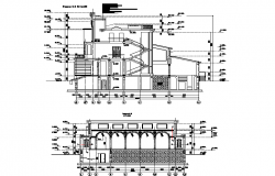 House villa elevation dwg file
