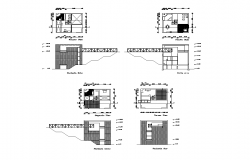 House with bridge detail elevation and plan layout autocad file