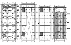 House working plan detail dwg file