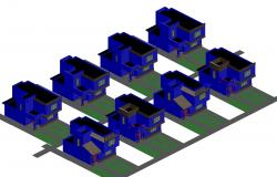 Houses division 3 d dwg file