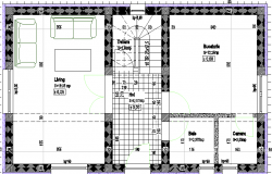 Housing 2 Levels Architecture Plan and Structure Details dwg file