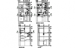 Housing 250 m 2 planning detail dwg file