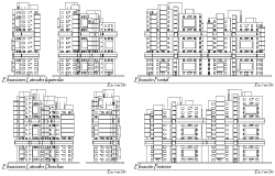 Housing and trade elevation detail dwg file