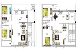Housing building detail CAD structure 2d view layout plan