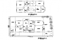 Housing building detail elevation 2d view layout plan