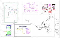 Housing hydraulic installation guide cad drawing