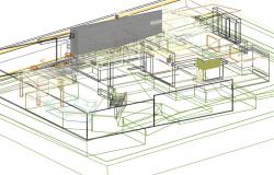 Housing in 3 d pool plan detail dwg file