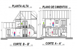Housing plan 2d elevation details