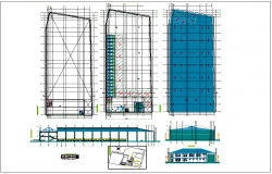 Housing plan and elevation detail information dwg file