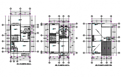 Housing plan detail dwg file