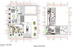Housing planning autocad file