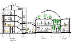 Housing section plan detail dwg file