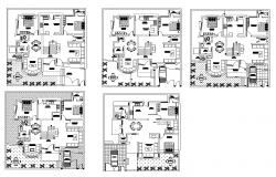 Housing structure detail CAD constructive block layout plan in autocad format