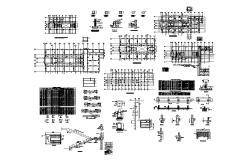 Housing structure detail plan autocad file