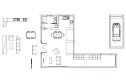 Housing structure plan 2d view layout file in autocad format