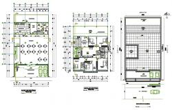 Housing trade plan detail autocad file