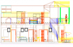 Hozanam house 3 d furnished plan detail dwg file