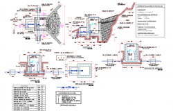 Hydraulic capture plan and section autocad file