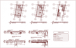 Hydraulic design view of law office area with detail dwg file
