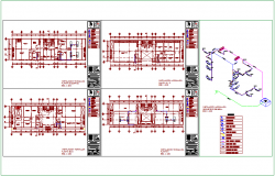 Hydraulic installation plan with legend of government building dwg file