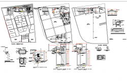 Hydraulic installation view of commercial building dwg file