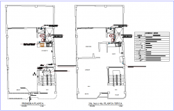 Hydraulic installation view of family house plan dwg file
