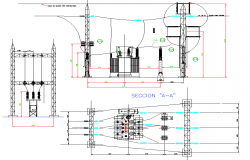 Hydro electric plant plans autocad file