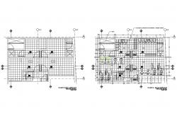 Hygiene services third floor plan and sanitary installation details dwg file