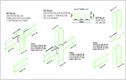 I beam and channel structural view dwg file