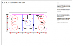 Ice Hockey Ring design drawing