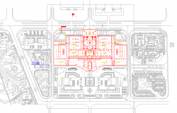 Illumination design drawing of Park design