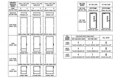 Imperior doors and windows blocks cad drawing details dwg file