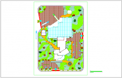 Implantation and cover plan for fruit preservation plant dwg file