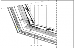 Incline doors of concrete style details dwg file