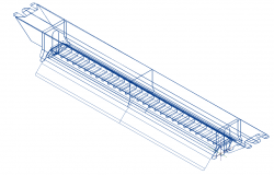 Ind LED_600_wide_lam ell electrical 3d wire frame view dwg file