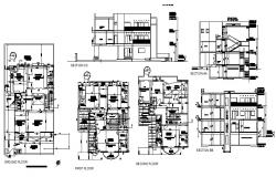 Independent resident house detailed architecture project dwg file