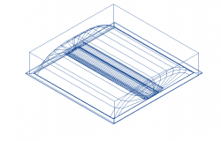 Indigo_LED_600 x 600 electrical 3d wire frame view dwg file