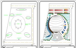 Indoor stadium landscaping details dwg file