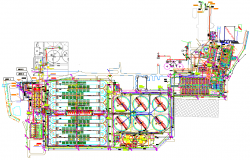 Industrial Manufacturing plant detail dwg file