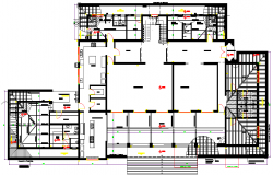Industrial building interior structure planning structure design dwg file