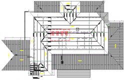 Industrial building interior structure planning structure design with dwg file