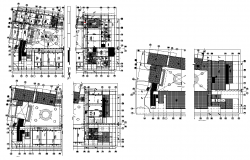 Industrial building structure detail 2d view layout plan